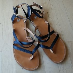 Gladiator-style Sandal with Ankle Strap